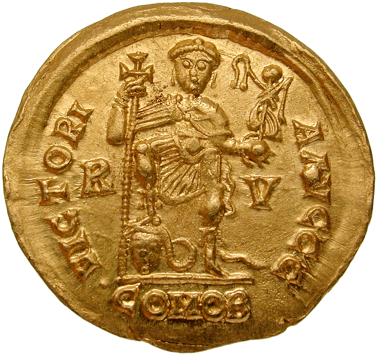 Visigoth Empire, Imitative Solidus in the Name of Valentinian III (reverse)