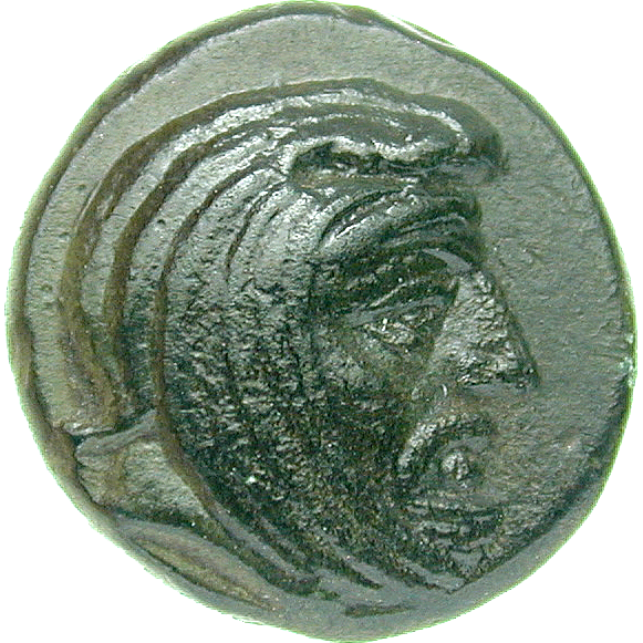 Persian Empire, Satrapy of Lydia and Ionia, Spithridates, Small Bronze Coin, Kyme (obverse)