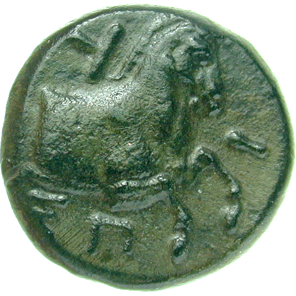 Persian Empire, Satrapy of Lydia and Ionia, Spithridates, Small Bronze Coin, Kyme (reverse)