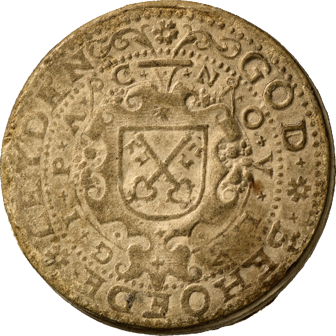 Netherlands, Leiden Besieged by the Spaniards, Guilder 1574 (reverse)