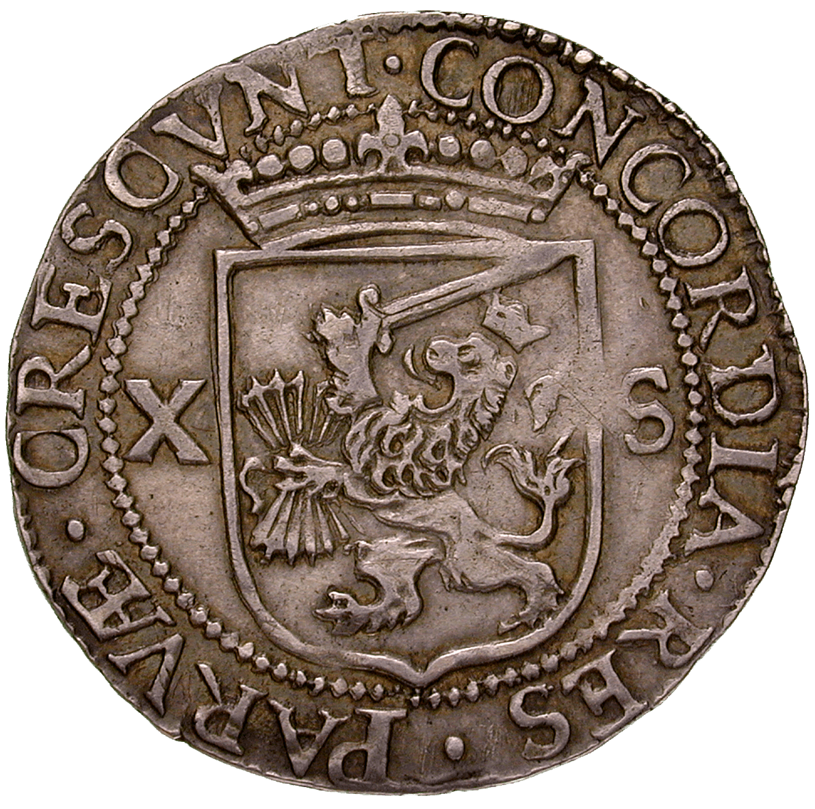Netherlands, Province of Friesland, Shilling at 20 Groot 1607 (reverse)