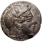 Persian Empire, Palestine, Philisto-Arabian Lords of the Desert, Drachm (obverse)