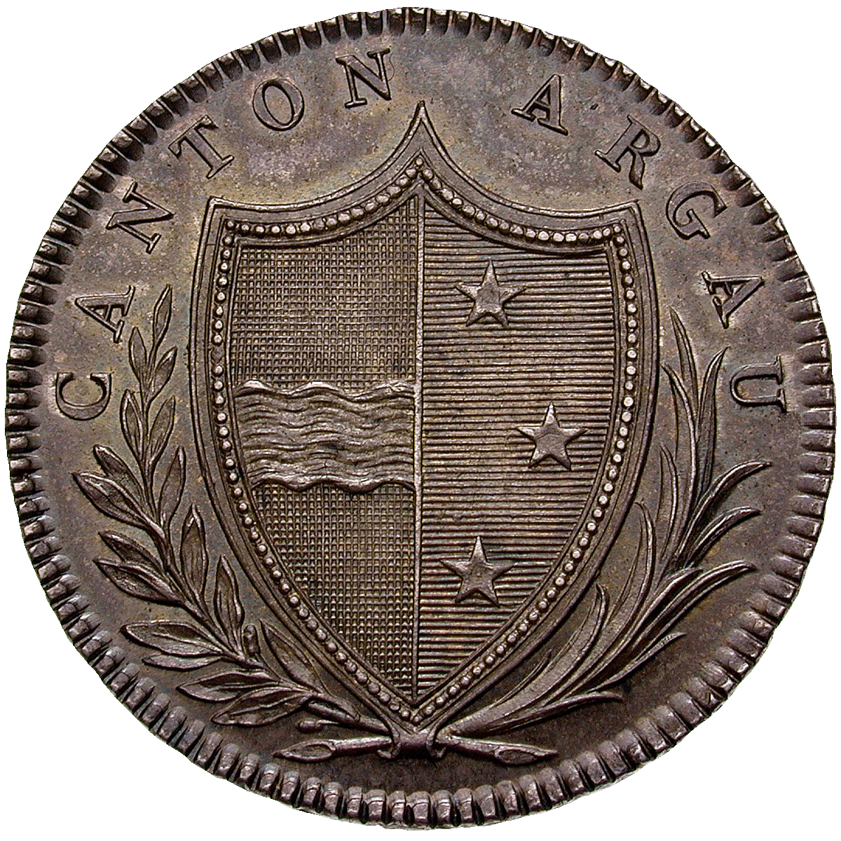 Canton of Argovia, Time of Mediation, 20 Batzen 1809 (obverse)