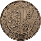 Canton and Republic of Geneva, 5 Francs 1848 (obverse)