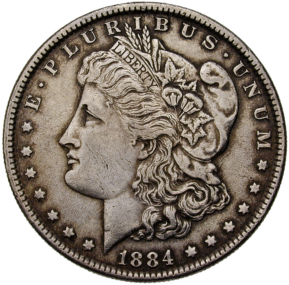 United States of America, 1 Dollar 1884 (obverse)