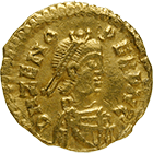 Germanic Tribe in Italy, Odoacer in the Name of Zeno, Tremissis (obverse)