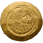 Kingdom of the Lombards, Liutprand, Tremissis (obverse)