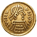 Kingdom of the Lombards, Tremissis (obverse)
