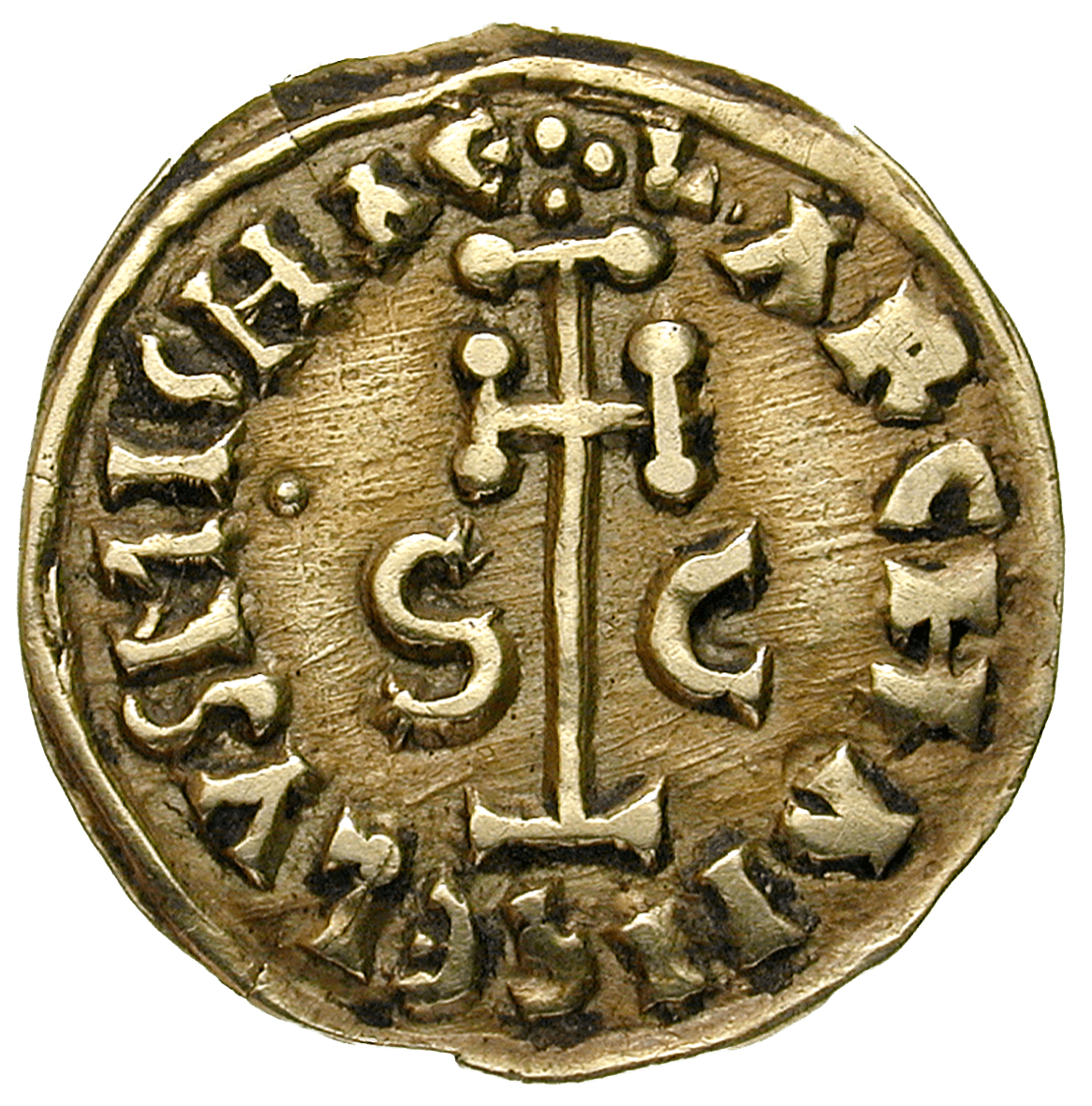 Kingdom of the Lombards, Duchy of Benevento, Sico, Tremissis (reverse)