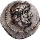 Kingdom of Paeonia, Lycceius, Tetradrachm (obverse)