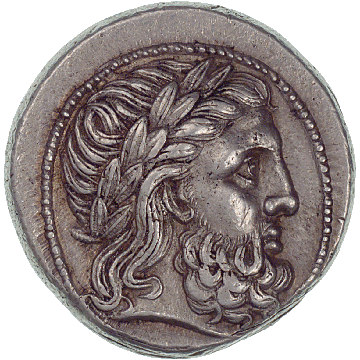 Kingdom of Macedonia, Tetradrachm in the Name of Philip II (obverse)
