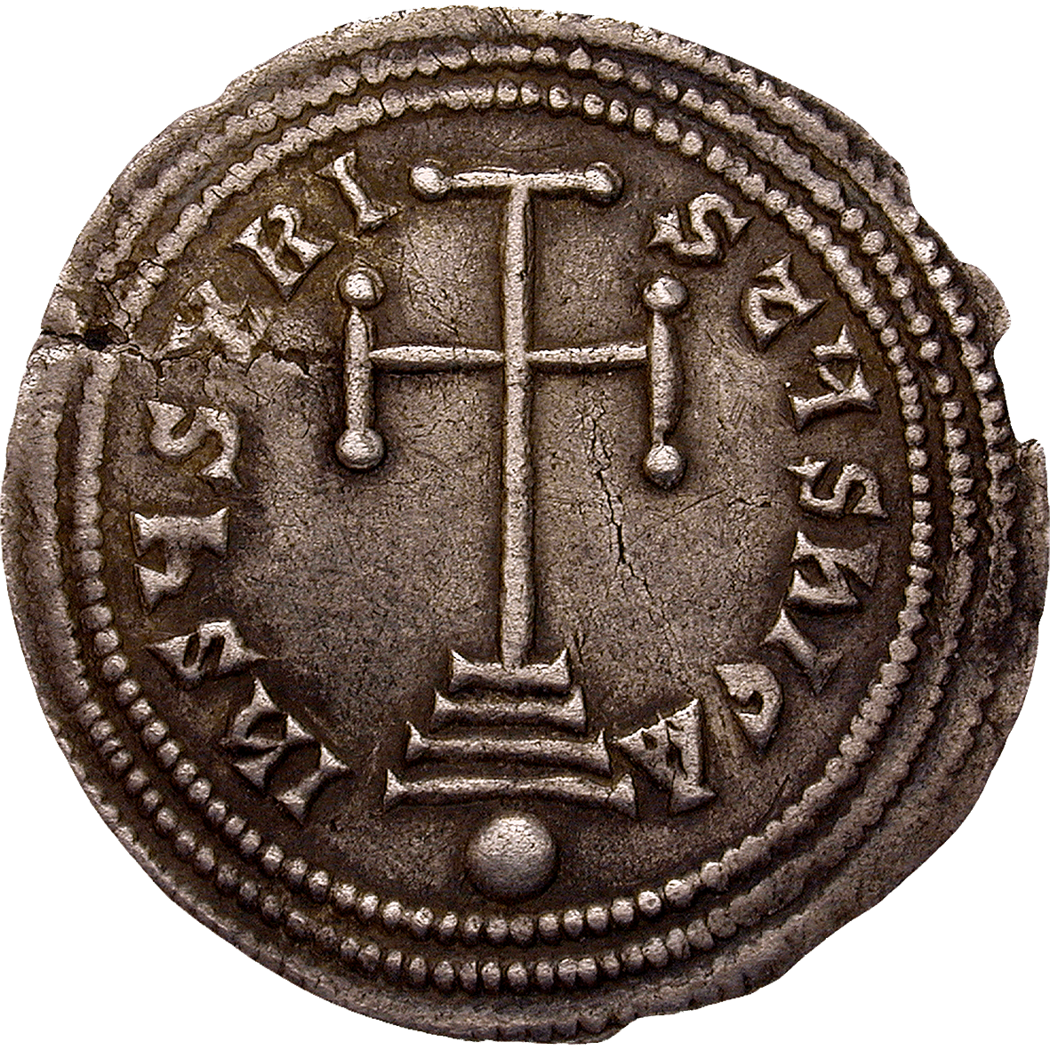 Byzantine Empire, Basil I and Constantine, Miliaresion (obverse)