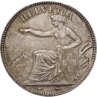 Swiss Confederation, 2 Francs 1850 (obverse)