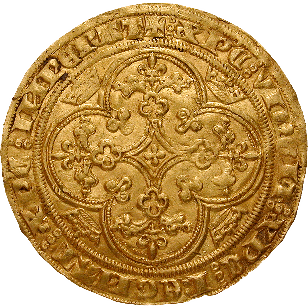 Kingdom of France, Philip VI of Valois, Chaise d'or (reverse)