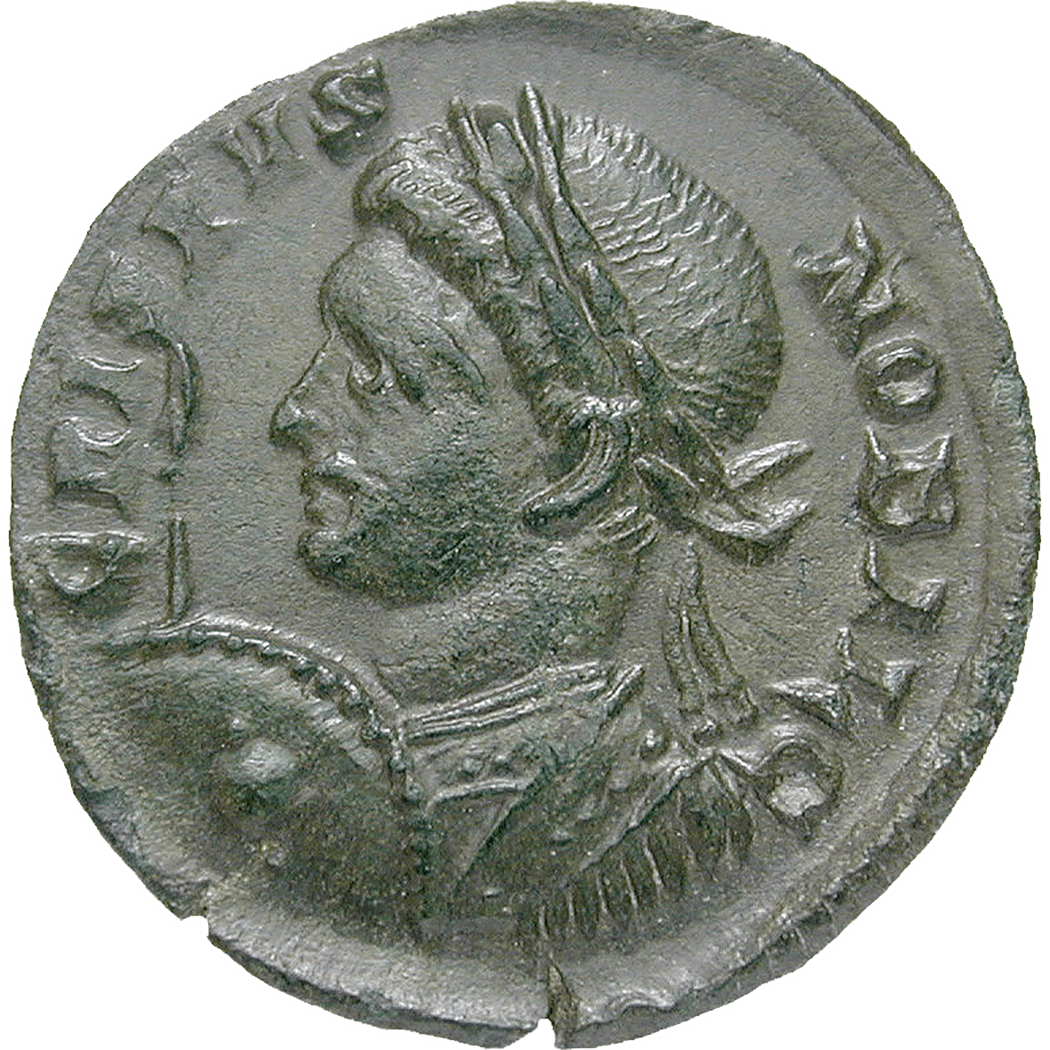 Roman Empire, Constantine I the Great for Crispus, Bronze Coin (obverse)