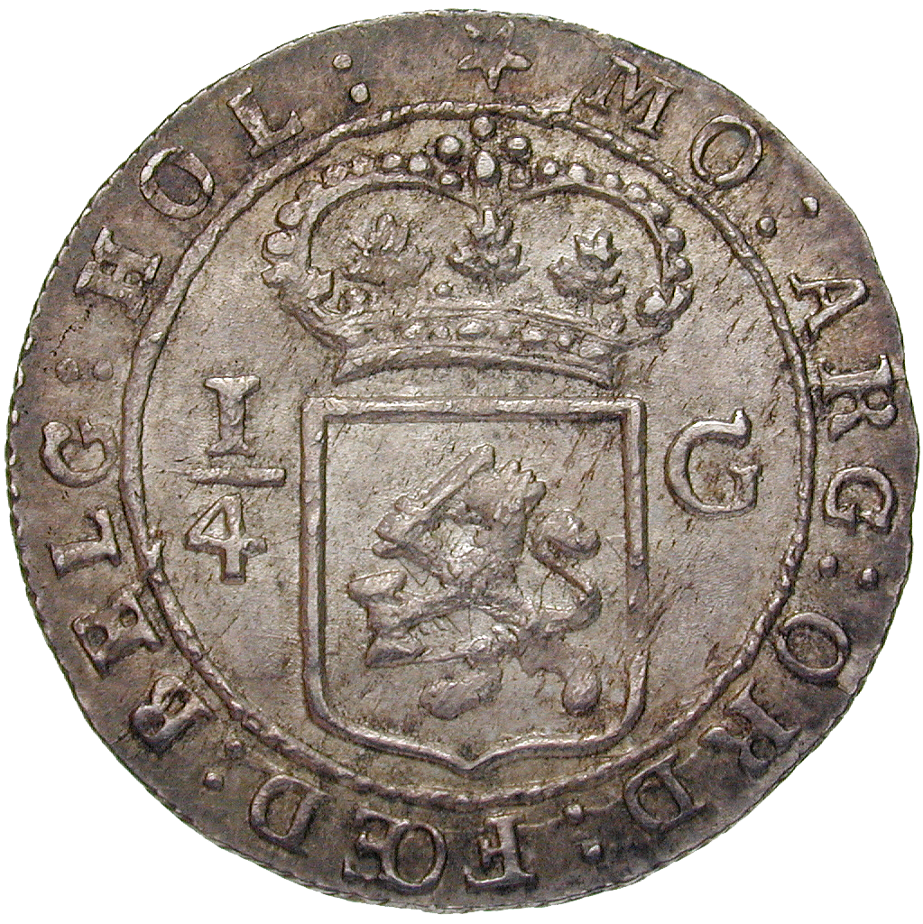 Batavian Republic for the Netherlands East Indies, 1/2 Gulden 1802 (reverse)