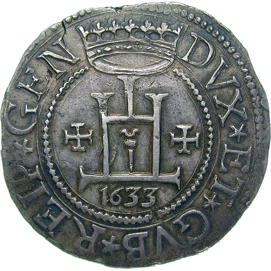 Republik Genua, Scudo stretto 1633 (obverse)