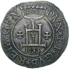 Republic of Genoa, Scudo stetto 1633 (obverse)