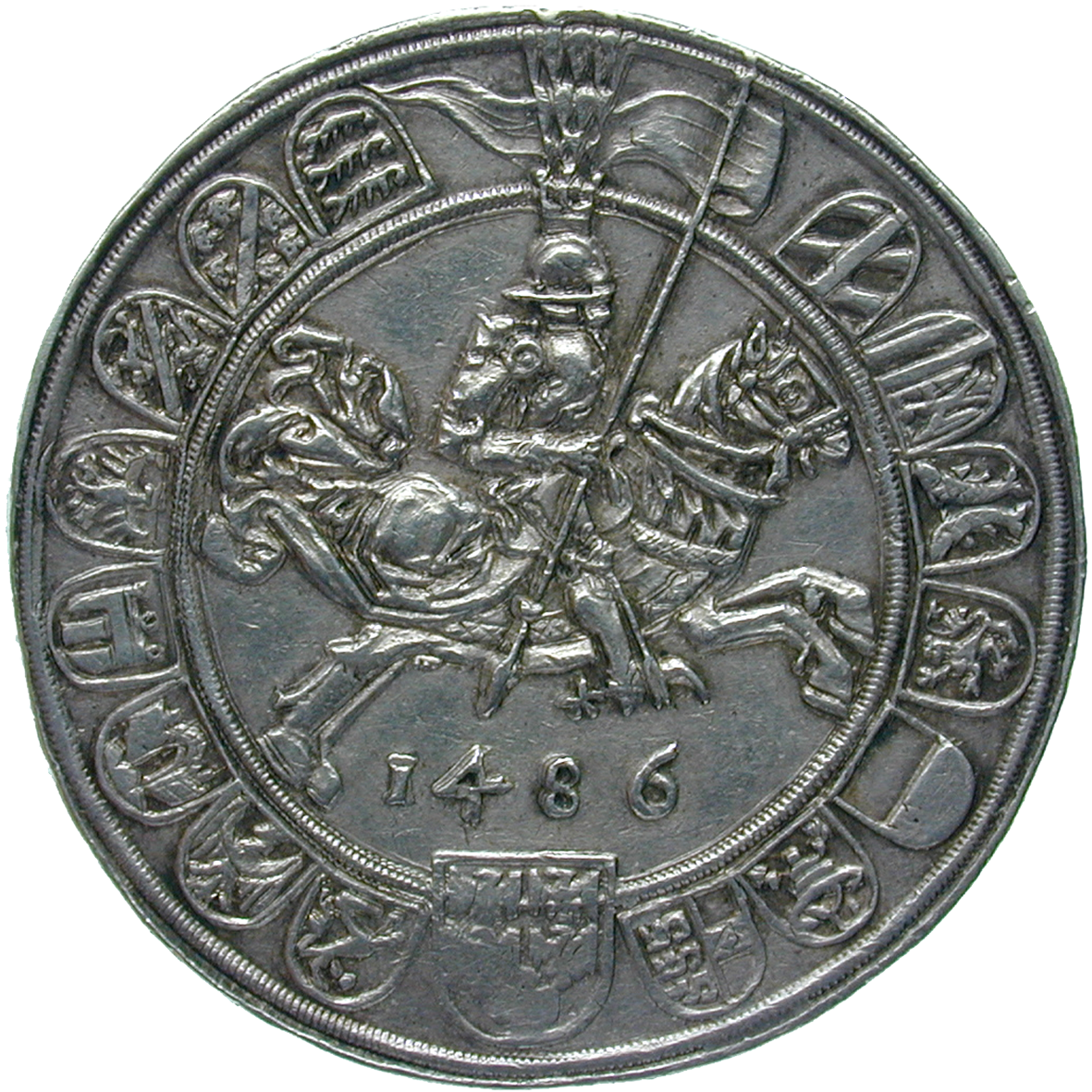 Holy Roman Empire, Archduchy of Austria, County of Tyrol, Sigismund, Guldiner 1486 (reverse)