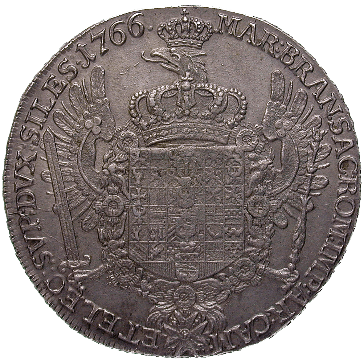 Holy Roman Empire, Kingdom of Prussia, Frederick II, Levant Trade Taler 1766 (reverse)