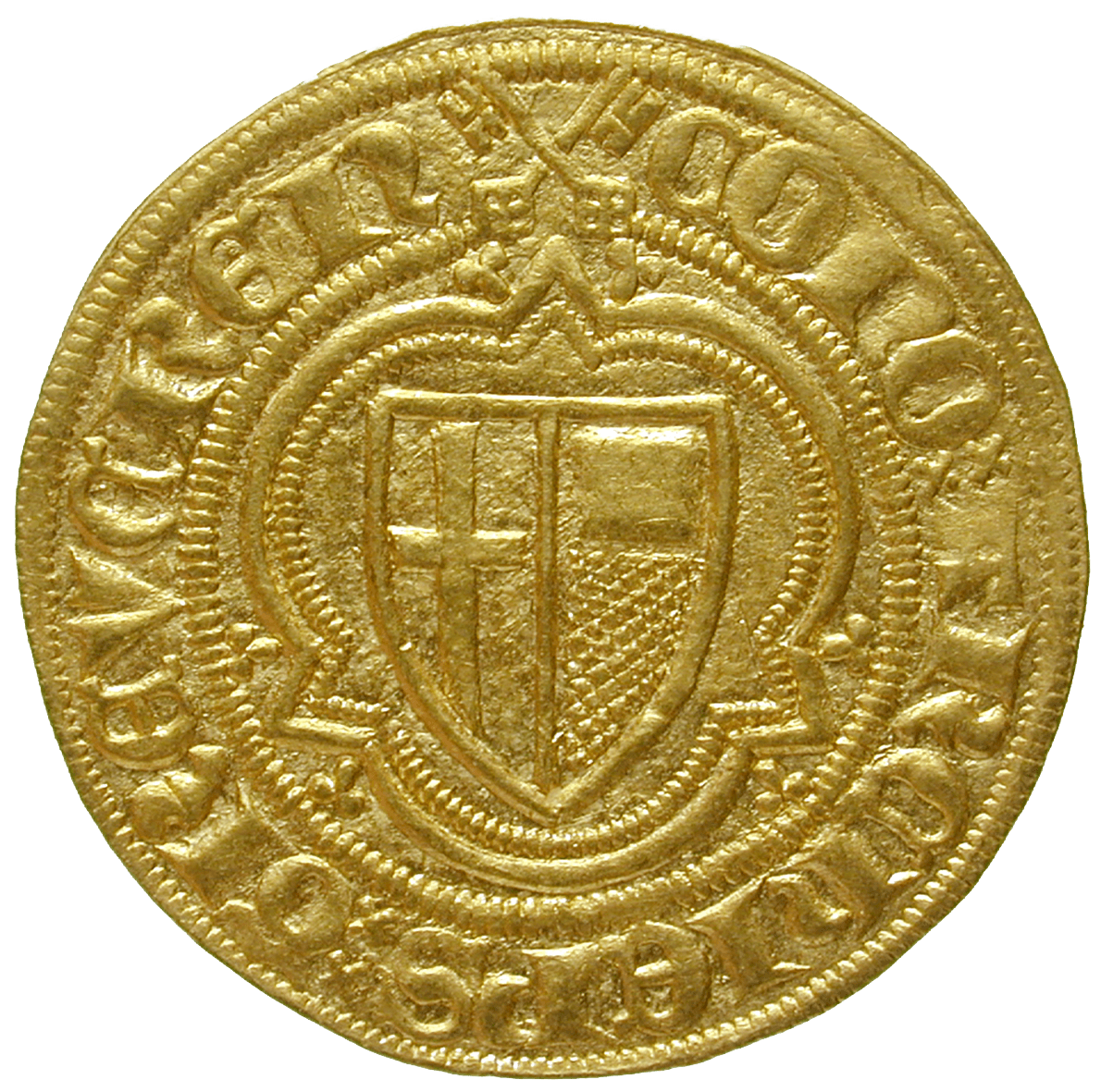 Holy Roman Empire, Archbishopric of Treves, Kuno II of Falkenstein, Goldgulden (obverse)
