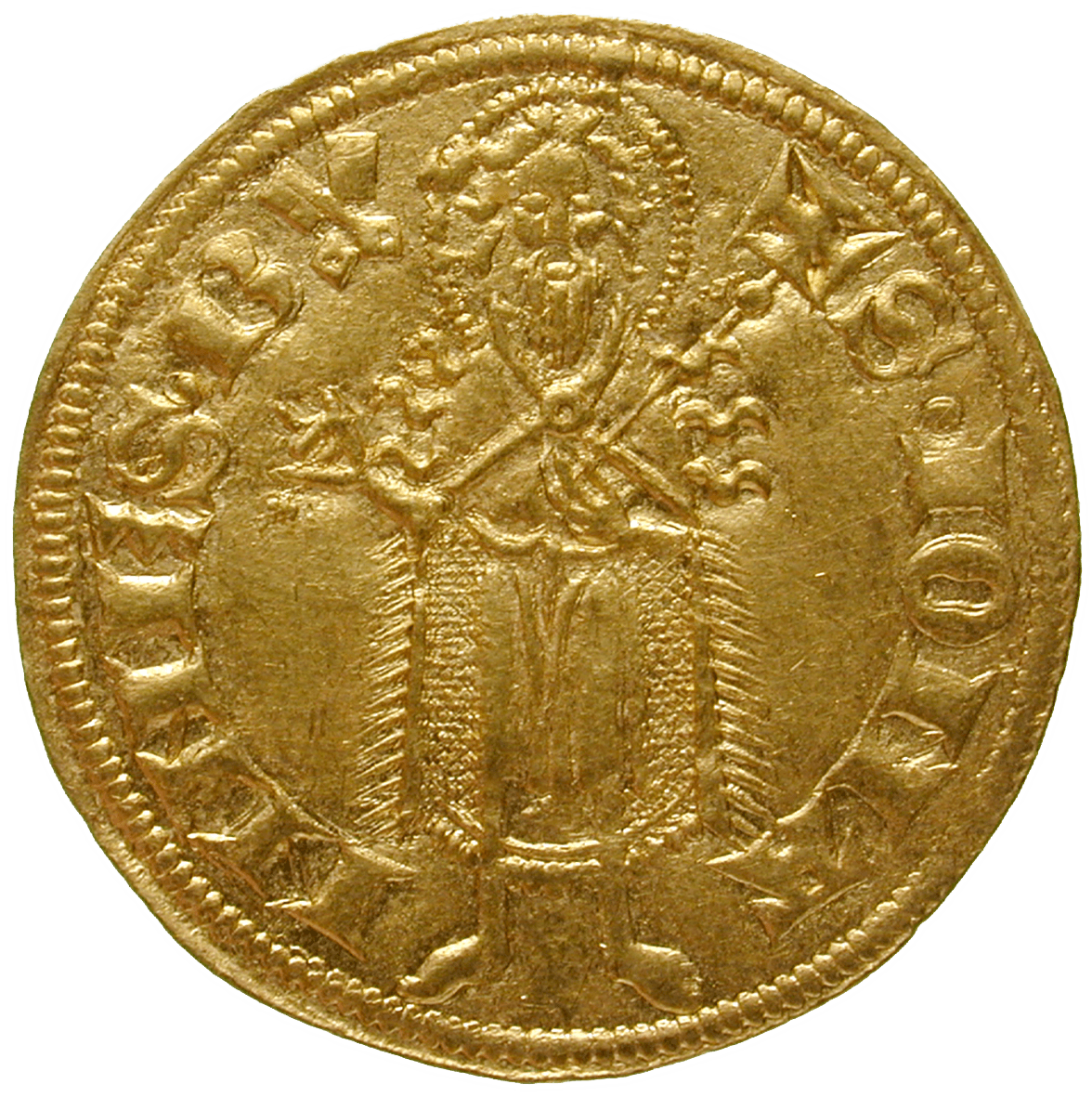 Holy Roman Empire, Archbishopric of Treves, Kuno II of Falkenstein, Goldgulden (reverse)