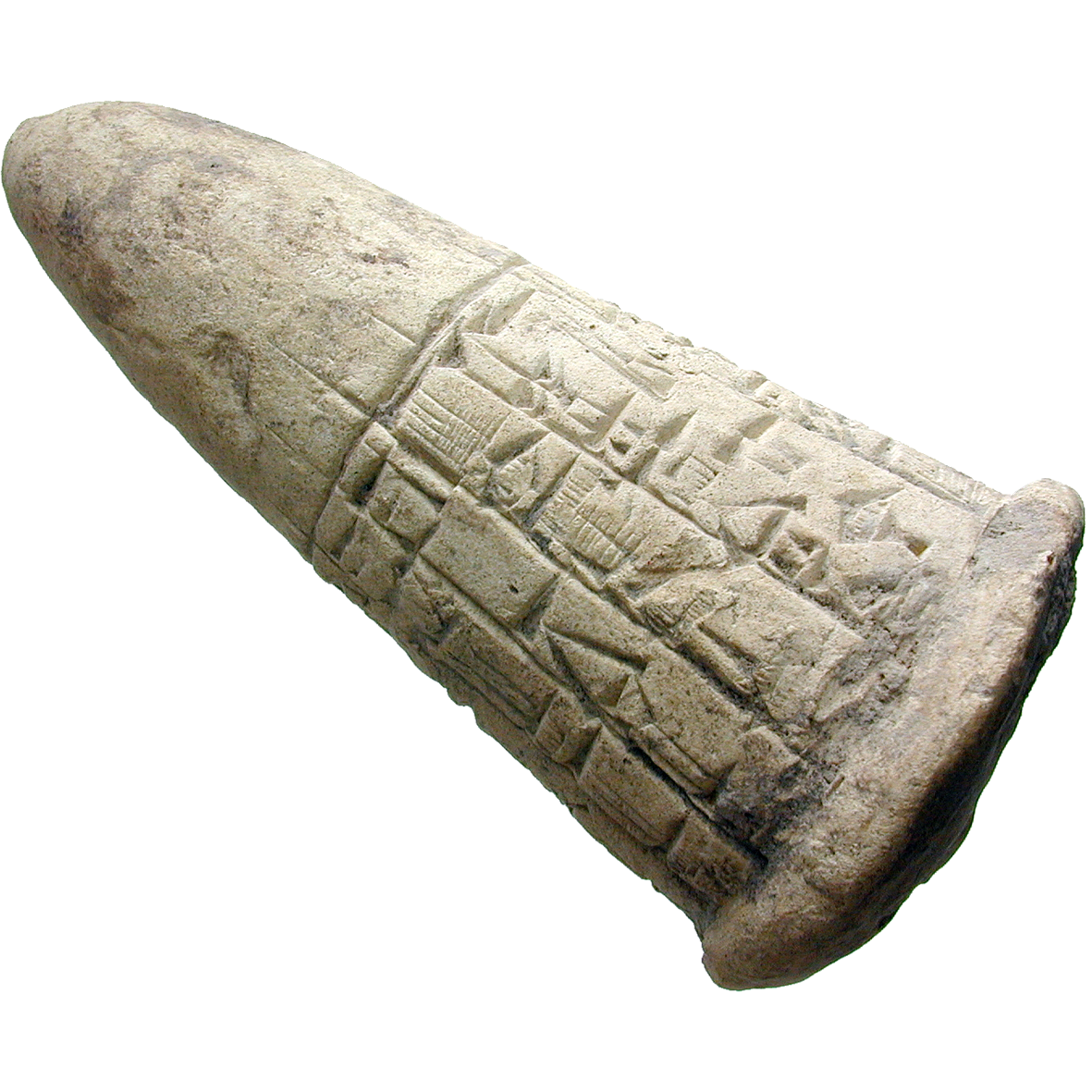 Mesopotamia, Cuneiform Foundation Cone, Clay (obverse)