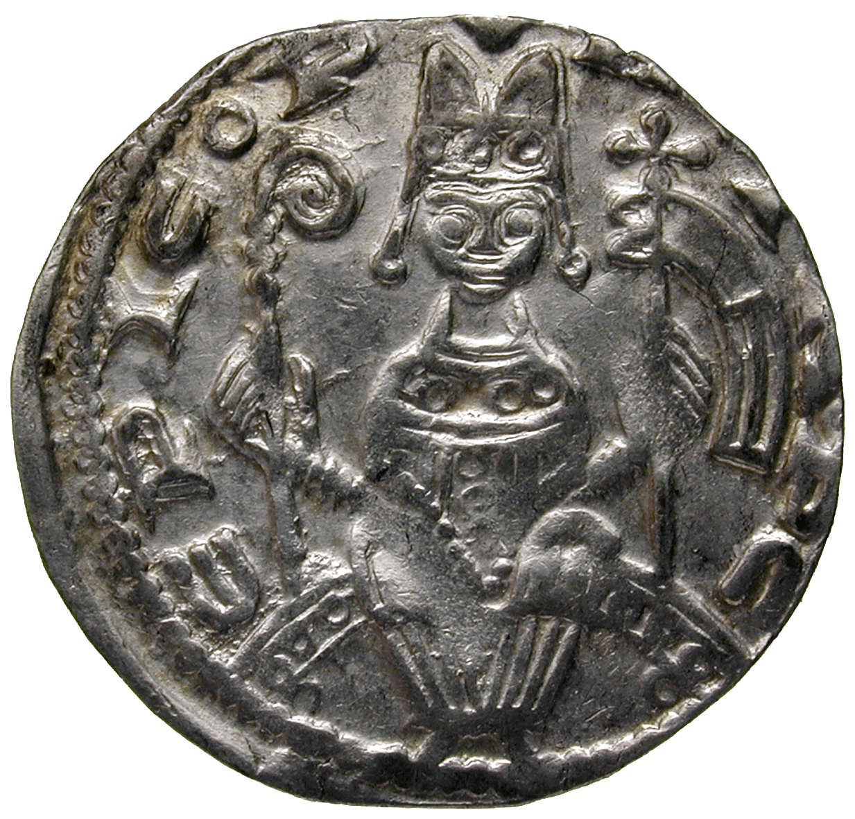 Holy Roman Empire, Archbishopric of Cologne, Philip of Heinsberg, Pfennig (obverse)