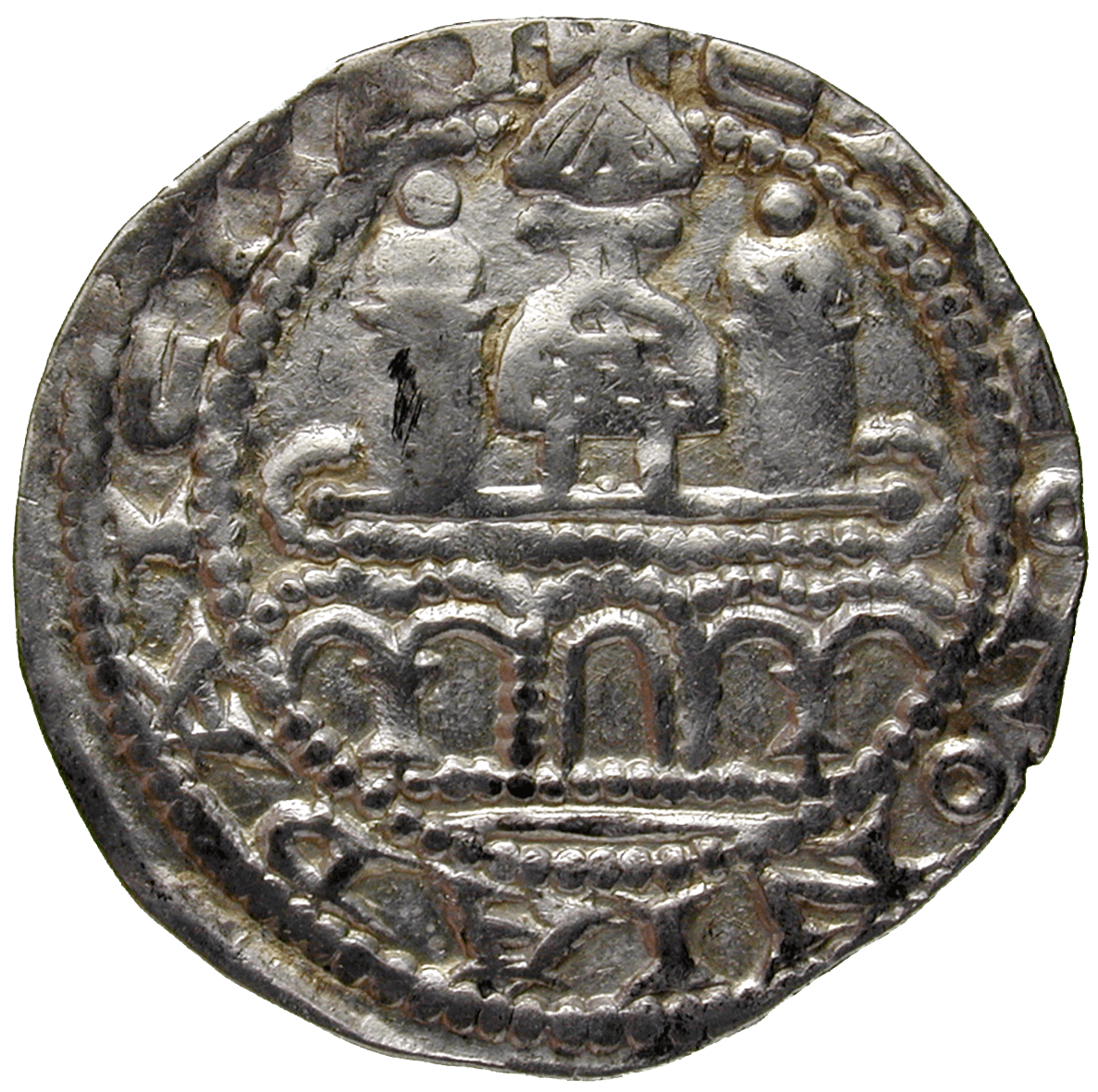 Holy Roman Empire, Archbishopric of Cologne, Philip of Heinsberg, Pfennig (reverse)