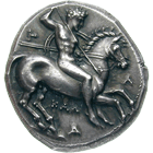 Southern Italy, Calabria, Taras, Stater (obverse)