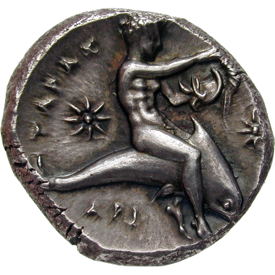 Southern Italy, Calabria, Taras, Stater (reverse)