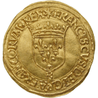 Kingdom of France, Francis I, Ecu d'or à la croisette (obverse)