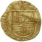 Kingdom of Spain, Philip II, Double Escudo (obverse)