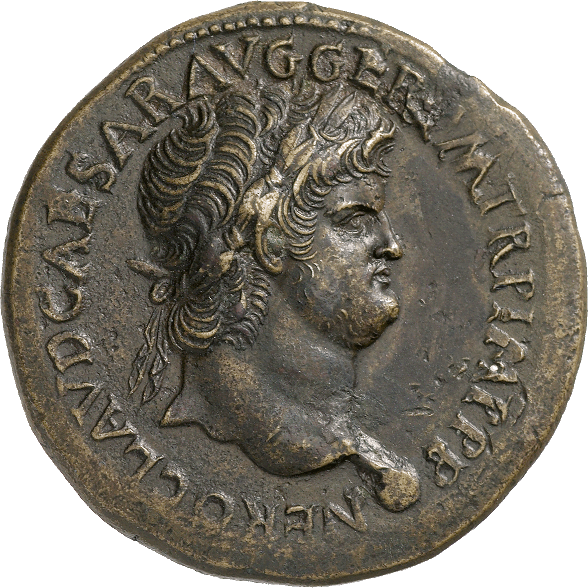 Roman Empire, Nero, Sesterce (obverse)