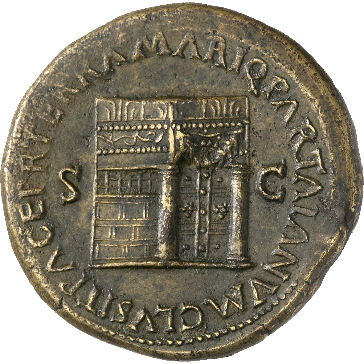 Roman Empire, Nero, Sesterce (reverse)