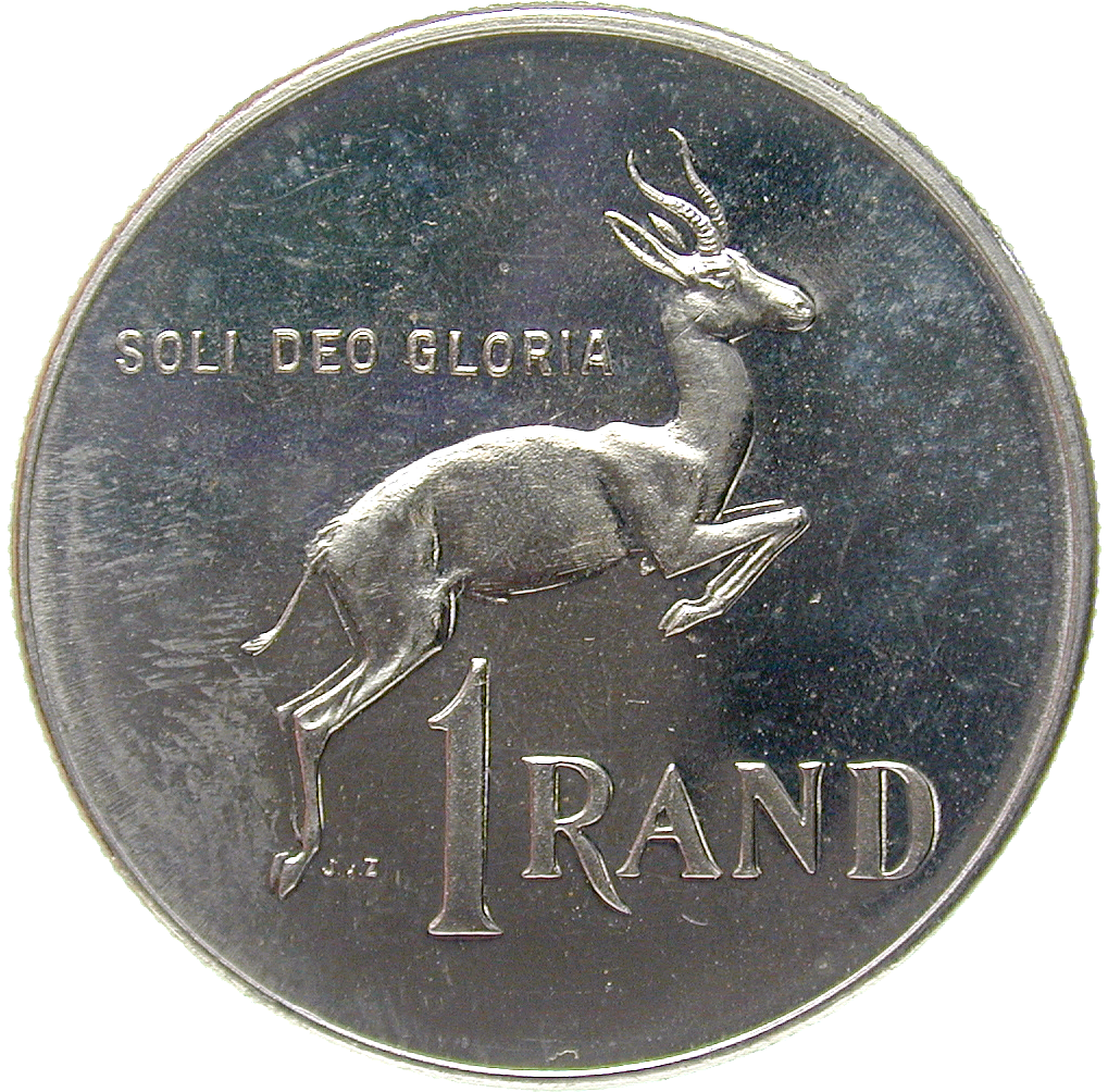 Republic of South Africa, 1 Rand 1980 (reverse)