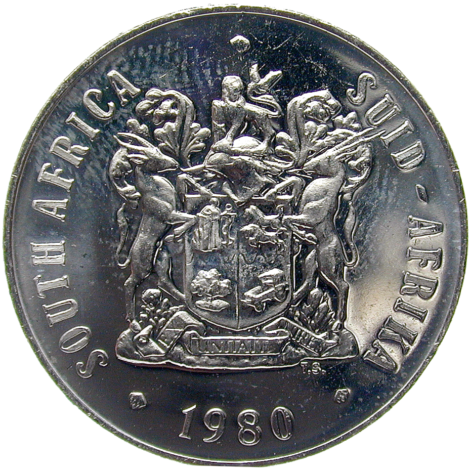 Republic of South Africa, 50 Cents 1980 (obverse)