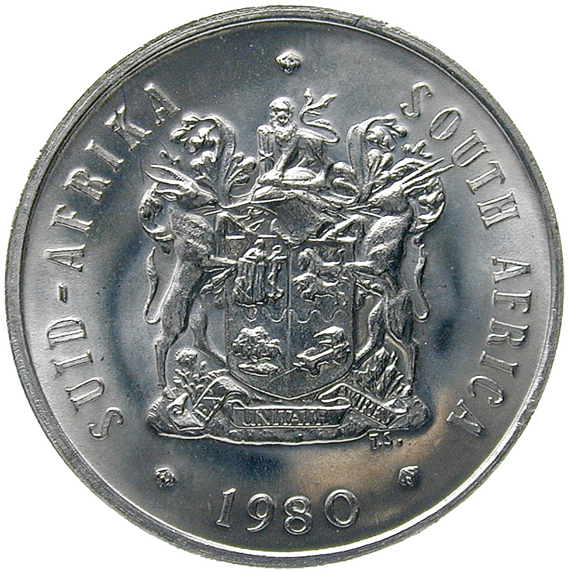 Republic of South Africa, 20 Cents 1980 (obverse)