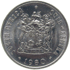 Republic of South Africa, 10 Cents 1980 (obverse)