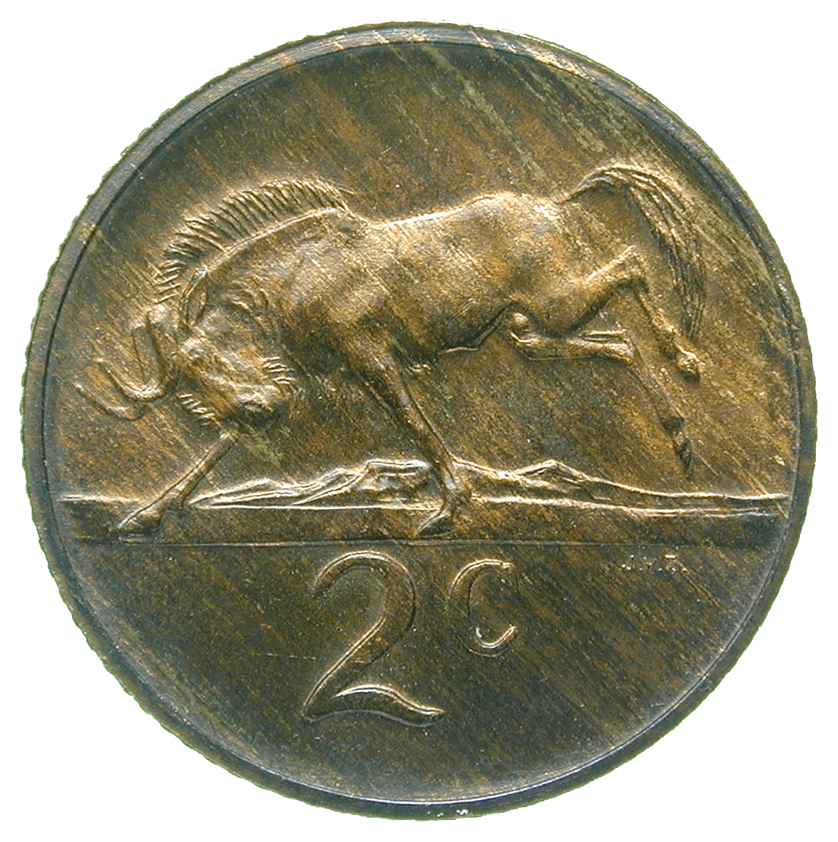 Republic of South Africa, 2 Cents 1980 (reverse)