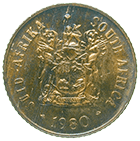 Republic of South Africa, 1 Cent 1980 (obverse)