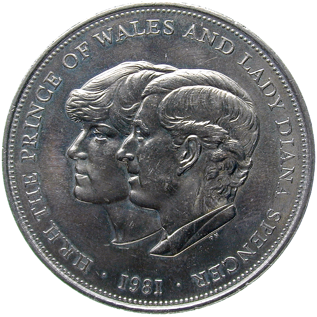 United Kingdom of Great Britain, Medal 1981 (reverse)