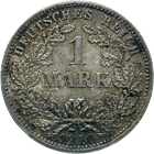 German Empire, Wilhelm I, 1 Mark 1910 (obverse)