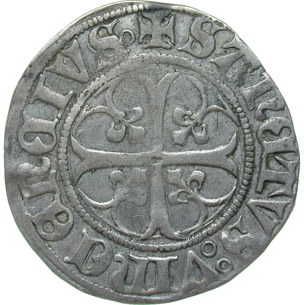 Holy Roman Empire, City of Berne, Batzen (reverse)