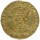 Kingdom of France, Charles VI, Ecu d'or à la couronne (obverse)