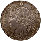 Republic of France, 5 Francs 1850 (obverse)