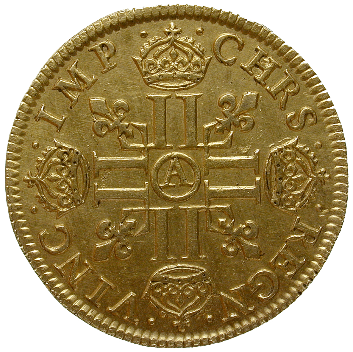 Kingdom of France, Louis XIII, Louis d'or 1641 (reverse)