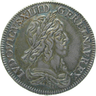 Kingdom of France, Louis XIII, 1/2 Ecu 1642 (obverse)