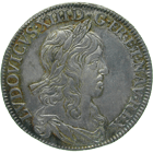 Kingdom of France, Louis XIII, 1/4 Ecu 1642 (obverse)