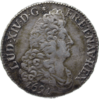 Kingdom of France, Louis XIV, 1/2 Ecu 1691 (obverse)